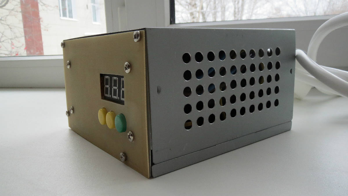 питание вентилятор схема