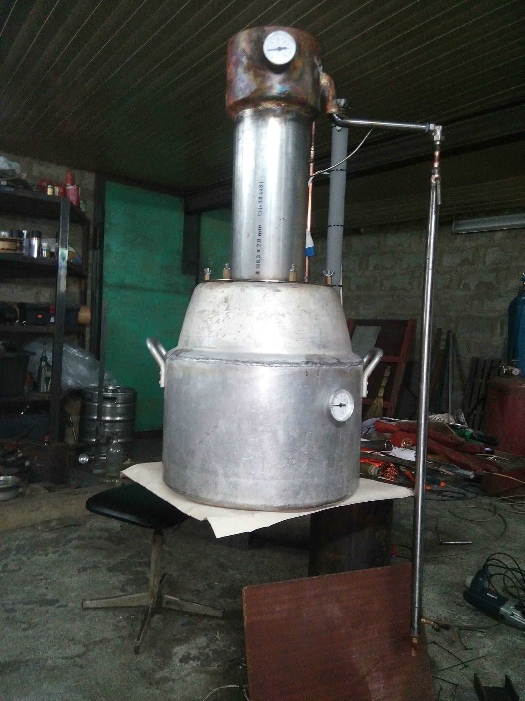 Алюминиевый куб для самогонного аппарата самогонный аппарат с бетона